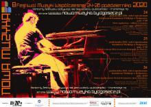 Plakat VIII Festiwalu NOWA MUZYKA 2020 (autor: Piotr Zaporowicz)